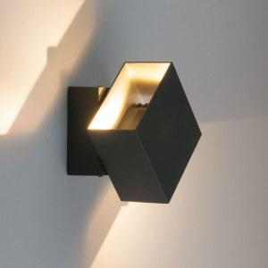 1607 TECHNO LED / Светильник садово-парковый со светодиодами графит FOBOS a035808