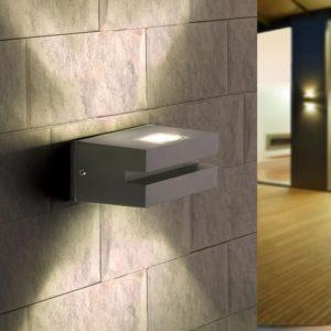 1611 TECHNO LED / Светильник садово-парковый со светодиодами алмазный серый NEREY a035810