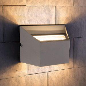1615 TECHNO LED / Светильник садово-парковый со светодиодами OFION DOUBLE алмазный серый a035812