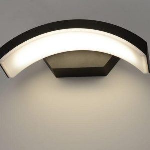 1671 TECHNO LED / Светильник садово-парковый со светодиодами черный Asteria D a035817