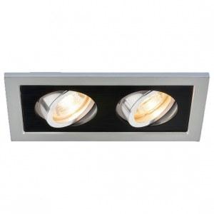 1031/2 MR16 / Светильник встраиваемый SL/BK серебро/черный a036411