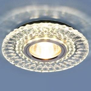 2197 MR16 / Светильник встраиваемый CL/SL прозрачный/серебро a037232