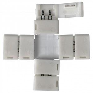 LED 1X / Соединитель электрический коннектор для 3528, 2835 одноцв светодиодной ленты X (5pkt) a038805