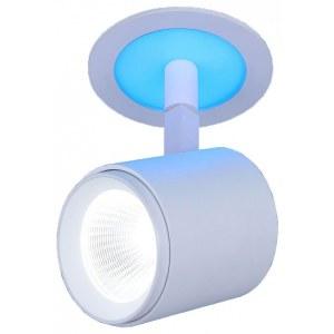 DSR002 9+3W 6500K / Светильник встраиваемый  белый матовый подсветка Blue (DSR002 9W 6500K) a039157