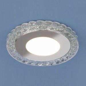 9909 LED / Светильник встраиваемый 8W CL прозрачный a039388