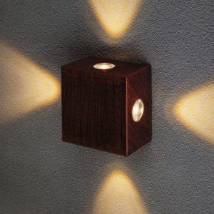 1601 TECHNO LED / Светильник садово-парковый со светодиодами Kvatra красно-черный a039987