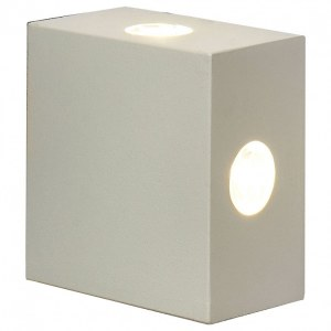 1601 TECHNO LED / Светильник садово-парковый со светодиодами Kvatra белый a039988