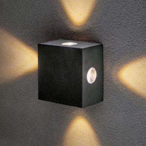 1601 TECHNO LED / Светильник садово-парковый со светодиодами Kvatra черный a039989