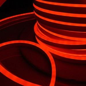 LS001 220V / Лента светодиодная Гибкий неон  9.6W 120Led 2835 IP67 односторонний красный, 50 м a040595