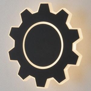 MRL LED 1095 / Светильник настенный светодиодный Gear M LED черный a040751