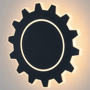 MRL LED 1100 / Светильник настенный светодиодный Gear L LED черный a040752