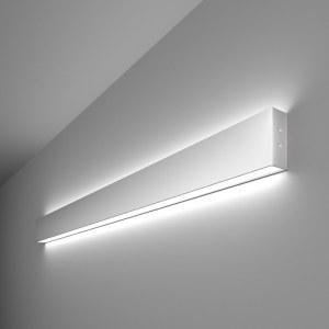 101-100-40-103 / Линейный светодиодный накладной двусторонний светильник 103см 40W 6500K матовое серебро a041470