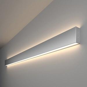 101-100-40-128 / Линейный светодиодный накладной двусторонний светильник 128см 50W 4200K матовое серебро a041472