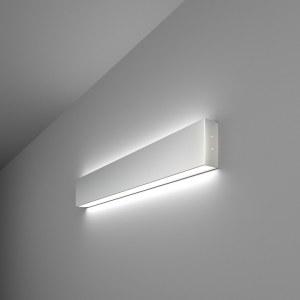 101-100-40-53 / Линейный светодиодный накладной двусторонний светильник 53см 20W 6500K матовое серебро a041476