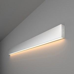 101-100-30-103 / Линейный светодиодный накладной односторонний светильник 103см 20W 3000K матовое серебро a041480