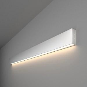 101-100-30-103 / Линейный светодиодный накладной односторонний светильник 103см 20W 4200K матовое серебро a041481
