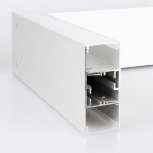 101-100-30-53 / Линейный светодиодный накладной односторонний светильник 53см 10W 3000K матовое серебро a041486