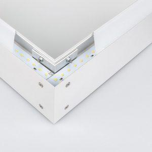 101-100-30-53 / Линейный светодиодный накладной односторонний светильник 53см 10W 6500K матовое серебро a041488