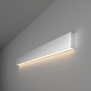 101-100-30-78 / Линейный светодиодный накладной односторонний светильник 78см 15W 4200K матовое серебро a041490