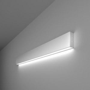 101-100-30-78 / Линейный светодиодный накладной односторонний светильник 78см 15W 6500K матовое серебро a041491