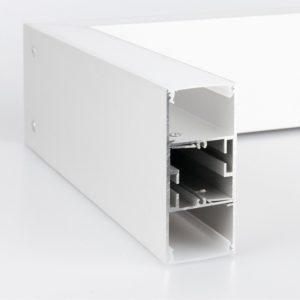 101-200-40-128 / Линейный светодиодный подвесной двусторонний светильник 128см 50W 4200K матовое серебро a041493