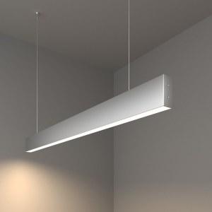 101-200-30-103 / Линейный светодиодный подвесной односторонний светильник 103см 20W 4200K матовое серебро a041524