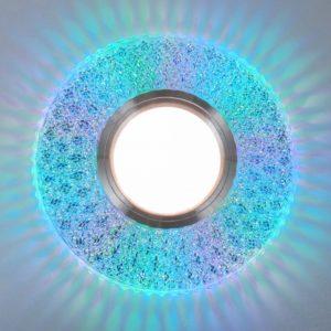 2220 MR16 / Светильник встраиваемый CL прозрачный подсветка мульти a041527