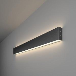 101-100-40-78 / Линейный светодиодный накладной двусторонний светильник 78см 30W 4200K черная шагрень a042927