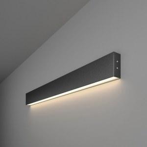 101-100-30-78 / Линейный светодиодный накладной односторонний светильник 78см 15W 4200K черная шагрень a042940
