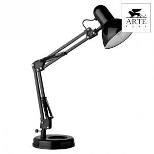 Фото 2 Настольная лампа офисная A1330LT-1BK в стиле техно