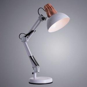 Фото 2 Настольная лампа офисная A2016LT-1WH в стиле техно