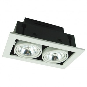 Фото 1 Встраиваемый светильник A5930PL-2WH в стиле техно