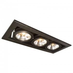 Фото 1 Встраиваемый светильник A5930PL-3BK в стиле техно