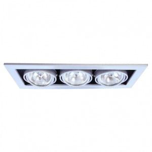 Фото 1 Встраиваемый светильник A5930PL-3SI в стиле техно