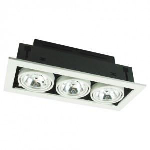 Фото 1 Встраиваемый светильник A5930PL-3WH в стиле техно