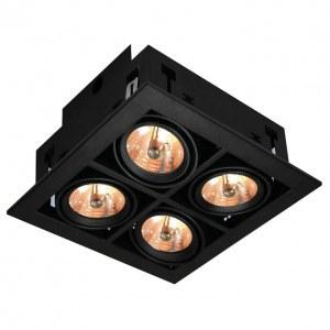 Фото 1 Встраиваемый светильник A5930PL-4BK в стиле техно