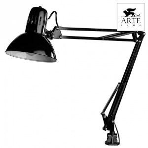 Фото 2 Настольная лампа офисная A6068LT-1BK в стиле техно
