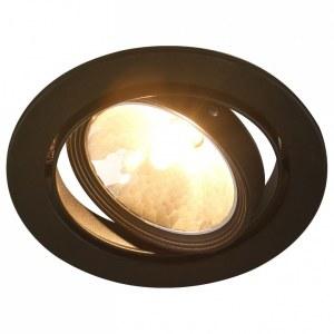 Фото 1 Встраиваемый светильник A6664PL-1BK в стиле техно