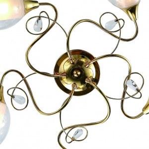 Детальное фото 1 Потолочная люстра A9289PL-5GO в стиле флористика