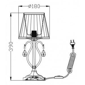 Схема Настольная лампа декоративная ARM172-01-G в стиле классический