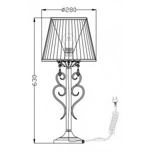 Схема Настольная лампа декоративная ARM288-22-G в стиле классический