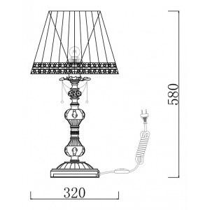 Схема Настольная лампа декоративная ARM305-22-W в стиле классический