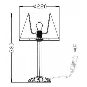 Схема Настольная лампа декоративная ARM325-00-W в стиле классический