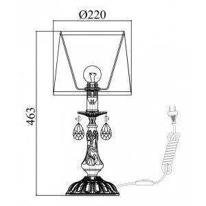 Схема Настольная лампа декоративная ARM390-00-W в стиле флористика