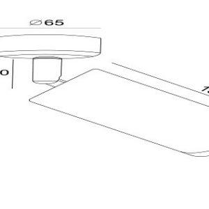 Схема Спот C034CL-01B в стиле модерн