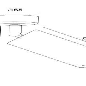 Схема Спот C034CL-01G в стиле модерн