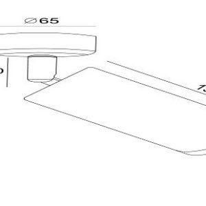 Схема Спот C034CL-01W в стиле модерн