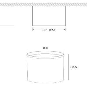 Схема Накладной светильник C036CL-01B в стиле модерн