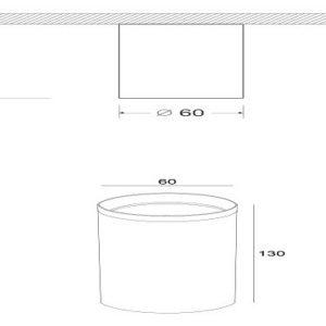 Схема Накладной светильник C036CL-01W в стиле модерн