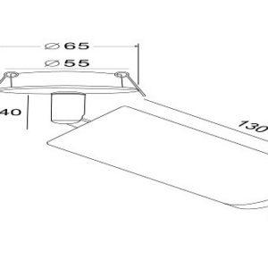 Схема Встраиваемый светильник на штанге C037CL-01B в стиле модерн